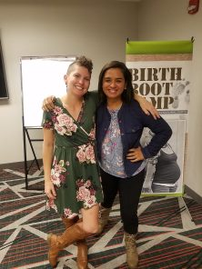 Carmen Valverde and Jen Valencia at Birth Boot Camp Training